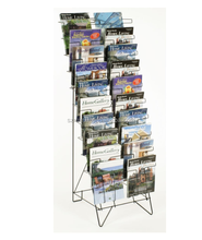 10 Tiered Black Wire brochure holder Magazine Rack holder with 20 Stacked Pockets