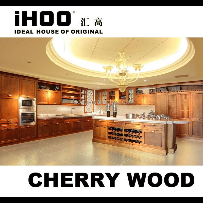 mobili da cucina di lusso armadio da cucina in legno di ciliegio ...