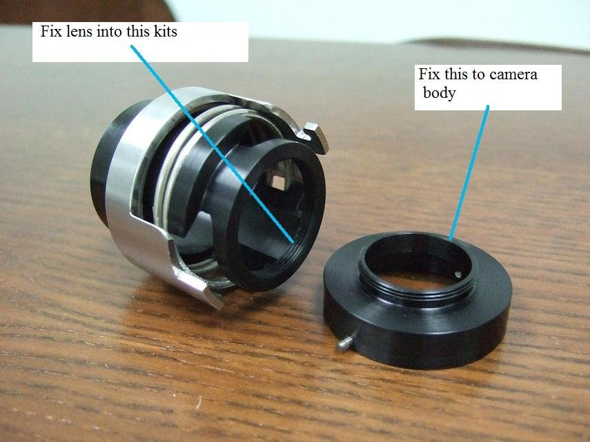 T120 camera lens quick change