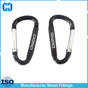 40mm Mini D Carabiner Hook Keychain For Promotional