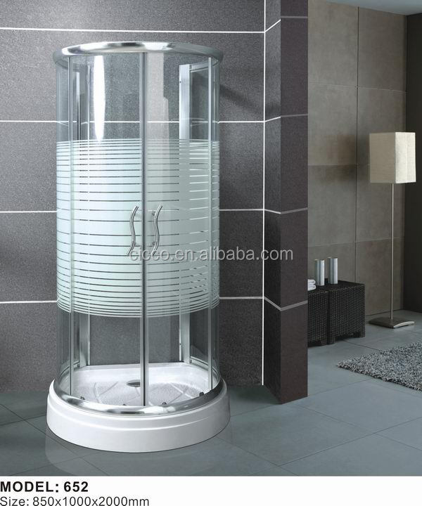 Modern China new design sliding 5mm tempered glass shower enclosure sector Round shower
