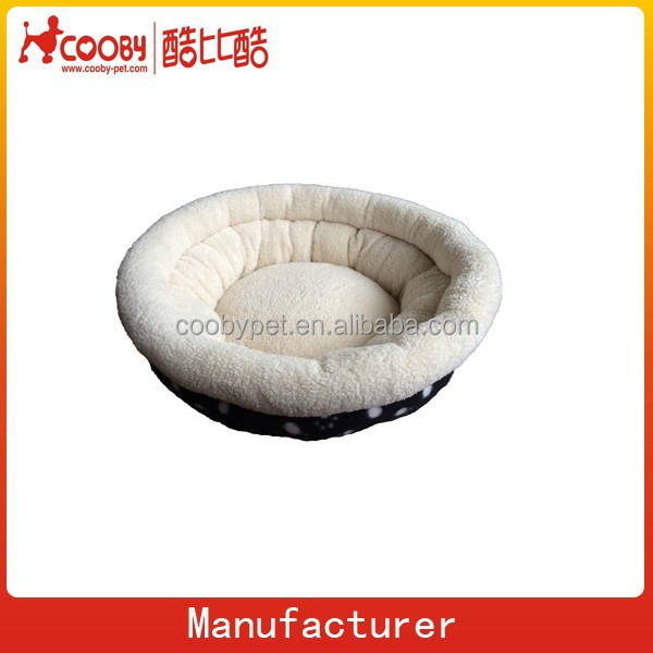new products lamb wool fabric foot print bowl shape dog bed