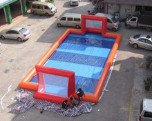 Soapy football pitch/inflatable water soccer court/inflatable soap football hot sale in USA G6056
