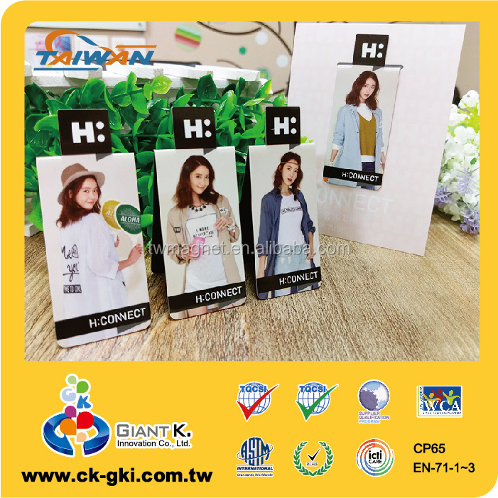 Promotional gift OEM logo handmade folding paper bookmark fridge magnet
