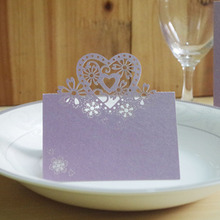Beautiful Love Heart Laser cut place card holder wedding table decoration