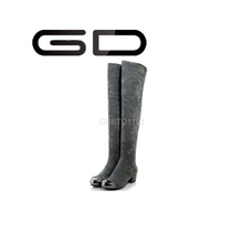 GD new fashion lady patent leather boot soft genuine leather over the knee boots for women
