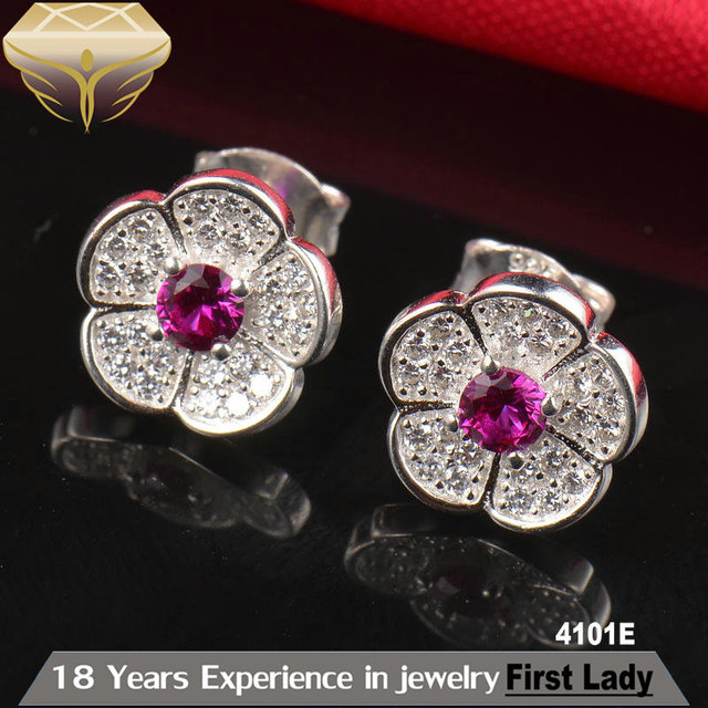 Fine Jewelry silver 925 earrings plated silver fashion jewelry manufacturer