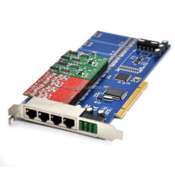 Asterisk card, TDM800P ,TRIXBOX IP-PBX ZAPTEL, supporting eight-channel FXO/ FXScombinations.