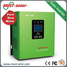 ISO9001 factory PV2000 pure sine wave inverter inbuilt with 30A off grid 2000VA solar power inverter 1kw solar panel kit