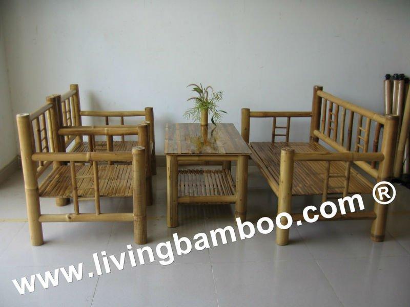 Dimo bamb muebles de sala set sets para la sala de estar - Muebles en bambu ...