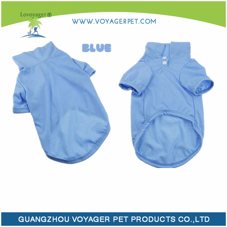 Lovoyager pet clothes blank dog polo shirt summer dog clothing