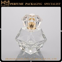 Hot sale best quality clear mini cute crystal glass perfume bottle