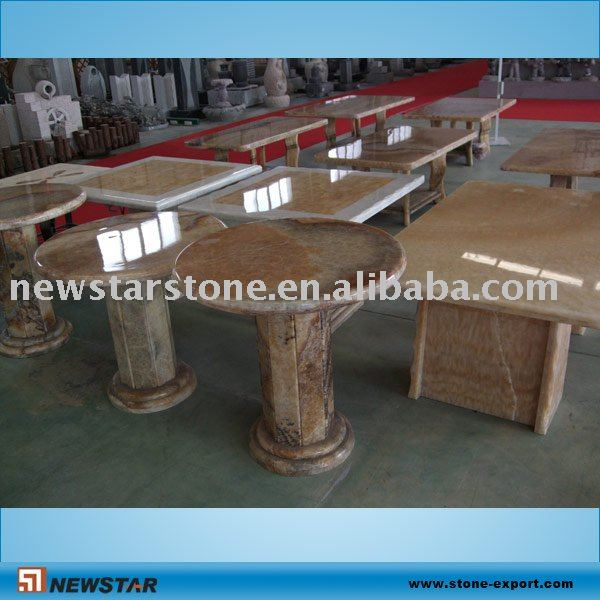 stone carving tea table