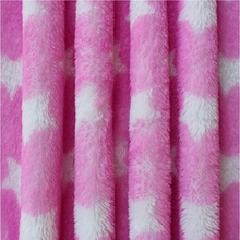 weft arctic fleece fabric with star pattern for shoes lining