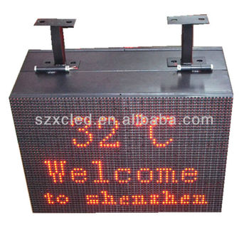 two side P10 single red outdoor message screen