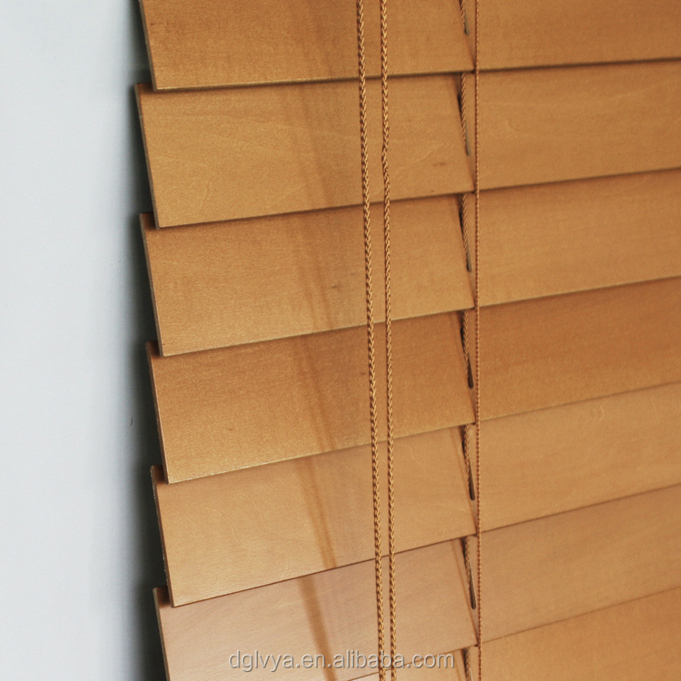 China direct factory high quality cheap price springs blinds parts Basswood slat Wooden Venetian Blinds Slats for curtain blind