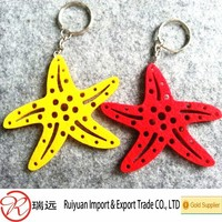 Best-selling new design Starfish custom promotional gift felt keychain