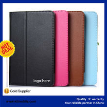 Factory wholesale new design leather cover flip case for lenovo a3500 a5500 a5100