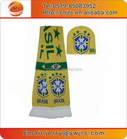 New football Brazil scarf and beanie