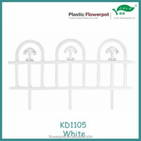 KD1105 White color plastic removable garden fence