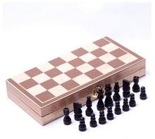 Hot Sell Classic Wooden International Chess Set Board Game Foldable black