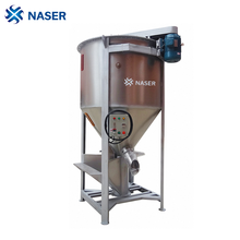 stainless Screw plastic raw material mixer blending machine