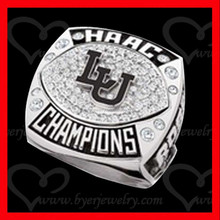 LU custom HAAC champions team school custom sports ring with name engraved