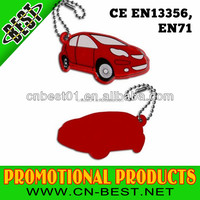 2015 news high qanlity Christmas gifts PVC car shape Reflective Keychain EN 71 wholesale