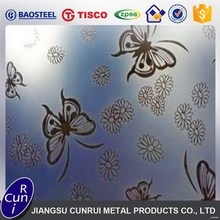 Cold Rolled Embossed / Textured Finish Stainless Steel Sheet, Metal Decorative Sheets