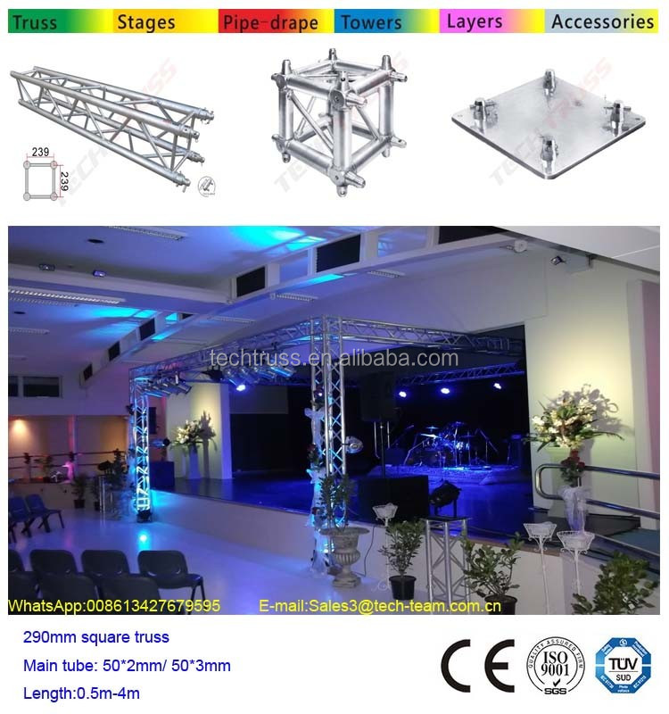 TUV certification Semi circle concert stage steel roof truss