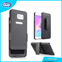 Good quality stand design phone plastic belt clip cover case for samsung galaxy note 5