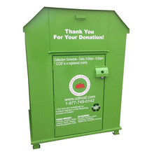 Large Volume Donation Bin for Used Clothes Collection
