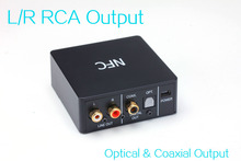 Stereo L/R RCA SPDIF Optical Toslink Coaxial NFC aptX Bluetooth Audio Adapter