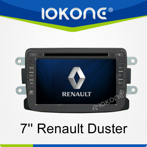 "factory 7"" HD Touch screen newest renault duster gps navigation with TMC, camera, mic, dvb-t"