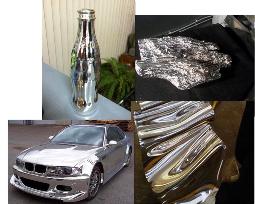 Metal Waterproof silver pigment coating High Heat Liquid Mirror Gold Effect Spray Chrome Paint