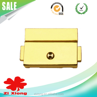 Zinc Alloy Bag Parts and Accessories Gold Case Lock