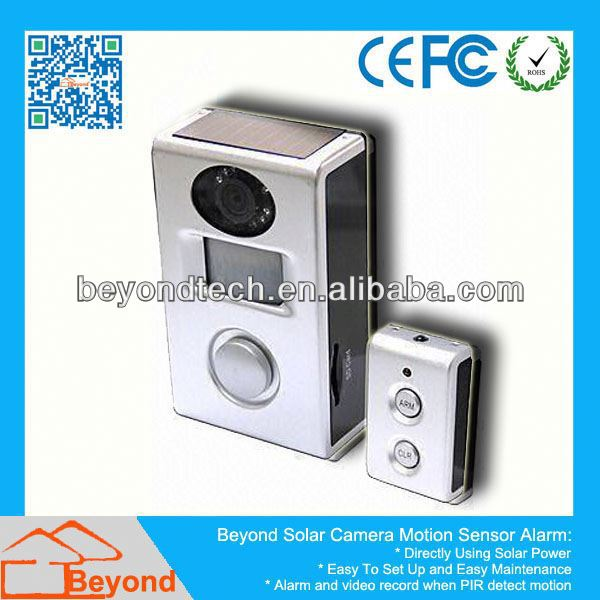 Ir Motion Sensor Cctv Camera Motion Sensor Alarm With Video Record and Solar Panel