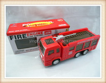 Kids high quality toy 3D flash light battery operated fire engine