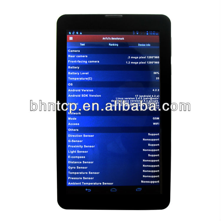 BHNKT88 7 inch HD Capacitive touch screen Dual core Dual Sim Bluetooth GPS built in 2G android PC tablet WIFI
