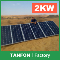 High Efficiency 2kw Home Solar Power System 5KW Solar Power Generator For Home Use