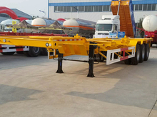 China manufacturer 45ft skeleton semi trailer container chassis sale
