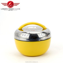 yellow color apple shape hot sale stainless steel salad rice /food bowl