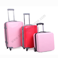 Universal ABS Trolley Travel Luggage Bag with Trhee Size