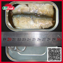 Shelf life recipe ingredients hot selling sardine fish in can