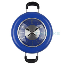 kitchen wall clock mechanism flying pan modern wall clock