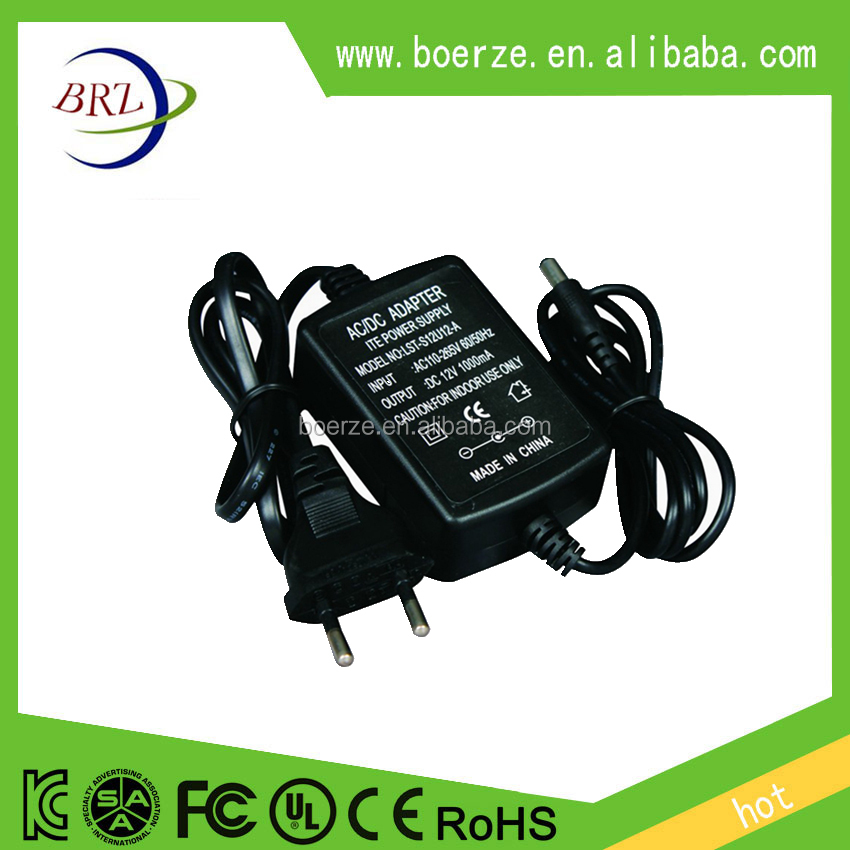 AC/DC 12V1A LED lamp power adapter CE FCC