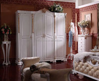 Luxury solid wood hand carved wardrobe