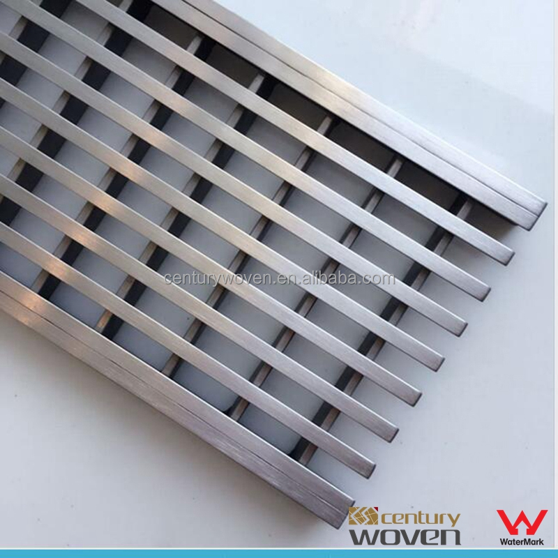 Wedge 316 stainless steel outdoor drain cover shower channel grate sidewalk drain grating