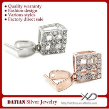 XD C770 925 Sterling Silver Silver Pendant Clip Clasps