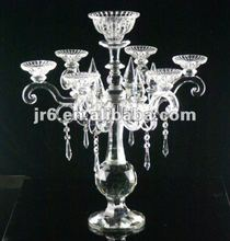 Crystal chandelier Handmade 7 Arms Crystal Candle Holder for Wedding